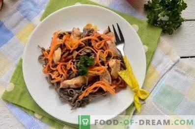 Тестенини со леќа со пилешко и зеленчук