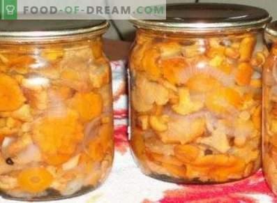 Печени лисички за зима