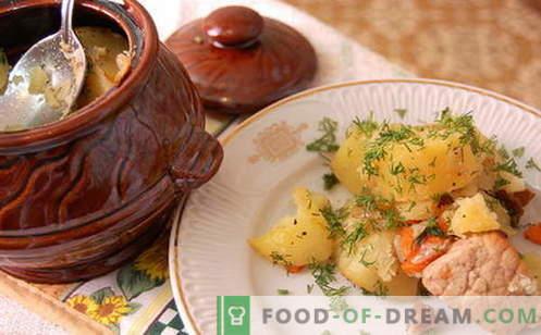 Ротките од саксии се најдобри рецепти. Како правилно и вкусно готви печење во саксии.