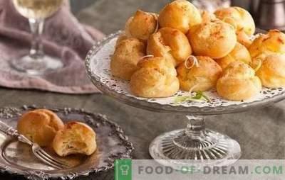 Француски бухти: рецепти од слатки, мелени, лиснати тесто. Варијанти на француски бухти со цимет, афион, суво грозје, чоколада