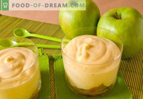 Епл мус - најдобрите рецепти. Како правилно и вкусно да готви јаболкото мус.